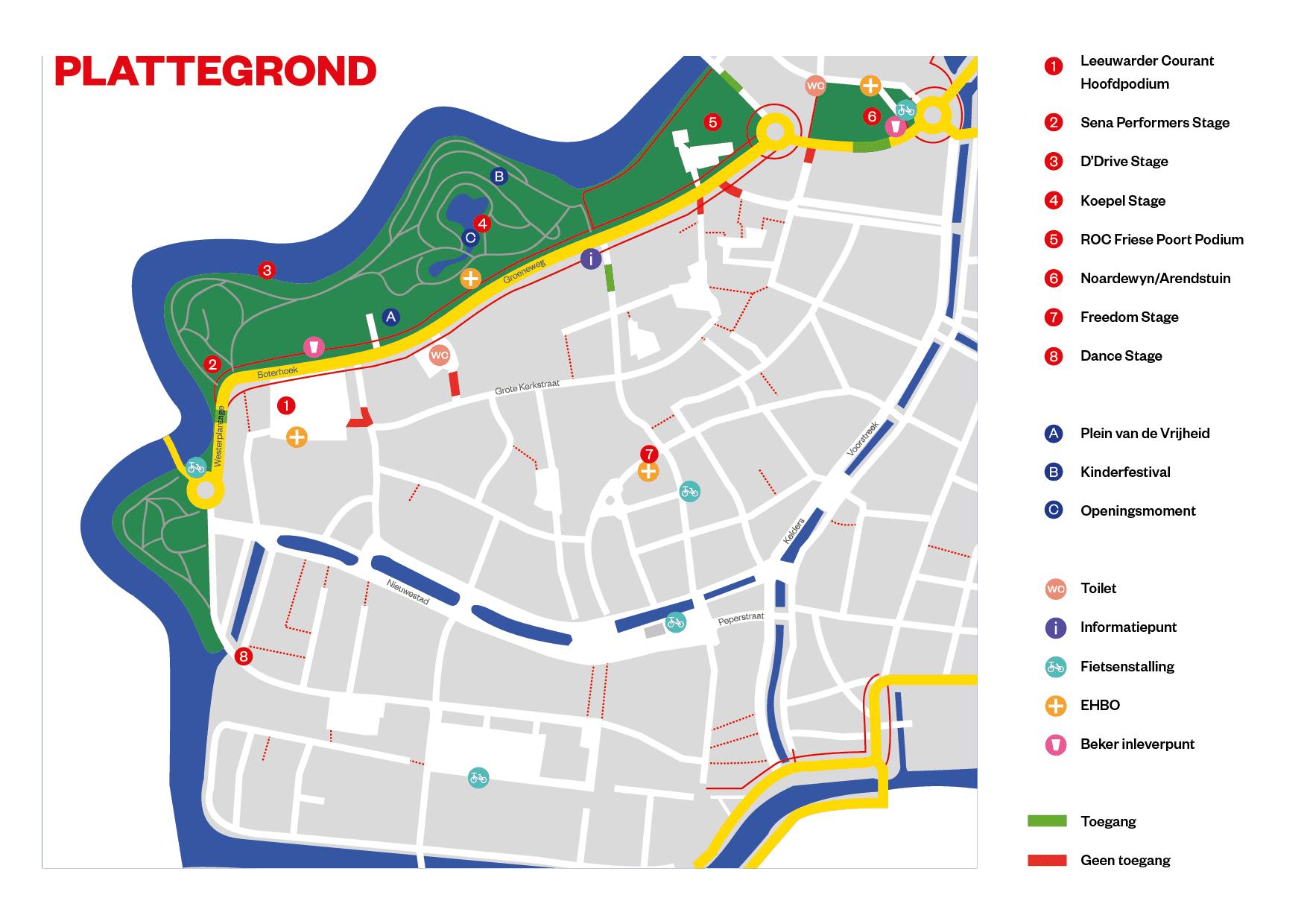 plattegrond bevrijdingsfestival fryslan
