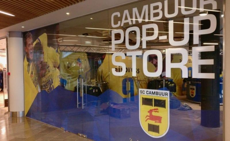 Pop Up Store Cambuur In Winkelcentrum Zaailand Leeuwarden